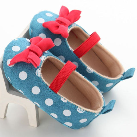 Designer Polka Dot Bowtie Slip On Shoes - Present Baby | clothes, rompers, bibs, shoes, blankets, dresses & more