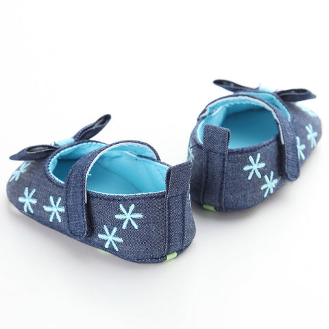 Denim Bownknot Slip On Shoes - Present Baby | clothes, rompers, bibs, shoes, blankets, dresses & more