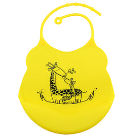 Happy Animal Silicone Bib - Present Baby | clothes, rompers, bibs, shoes, blankets, dresses & more