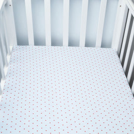 Rosy Pink Dots Bed Sheet - Present Baby | clothes, rompers, bibs, shoes, blankets, dresses & more