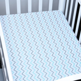 Ocean Waves Bed Sheet - Present Baby | clothes, rompers, bibs, shoes, blankets, dresses & more