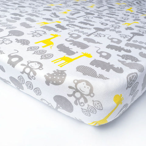 Giraffe Safari Bed Sheet - Present Baby | clothes, rompers, bibs, shoes, blankets, dresses & more