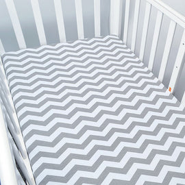 Gray Waves Bed Sheet - Present Baby | clothes, rompers, bibs, shoes, blankets, dresses & more