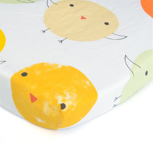 Happy Chick Bed Sheet - Present Baby | clothes, rompers, bibs, shoes, blankets, dresses & more