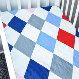Plaid Chess Bed Sheet - Present Baby | clothes, rompers, bibs, shoes, blankets, dresses & more