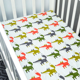Silent Fox Bed Sheet - Present Baby | clothes, rompers, bibs, shoes, blankets, dresses & more