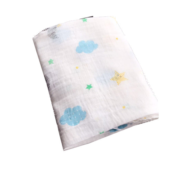 Starry Night Muslin Swaddle Blanket - Present Baby | clothes, rompers, bibs, shoes, blankets, dresses & more
