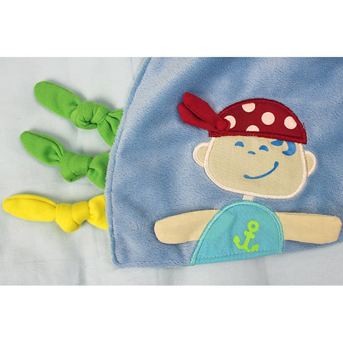 Baby Pirate Security Blanket - Present Baby | clothes, rompers, bibs, shoes, blankets, dresses & more