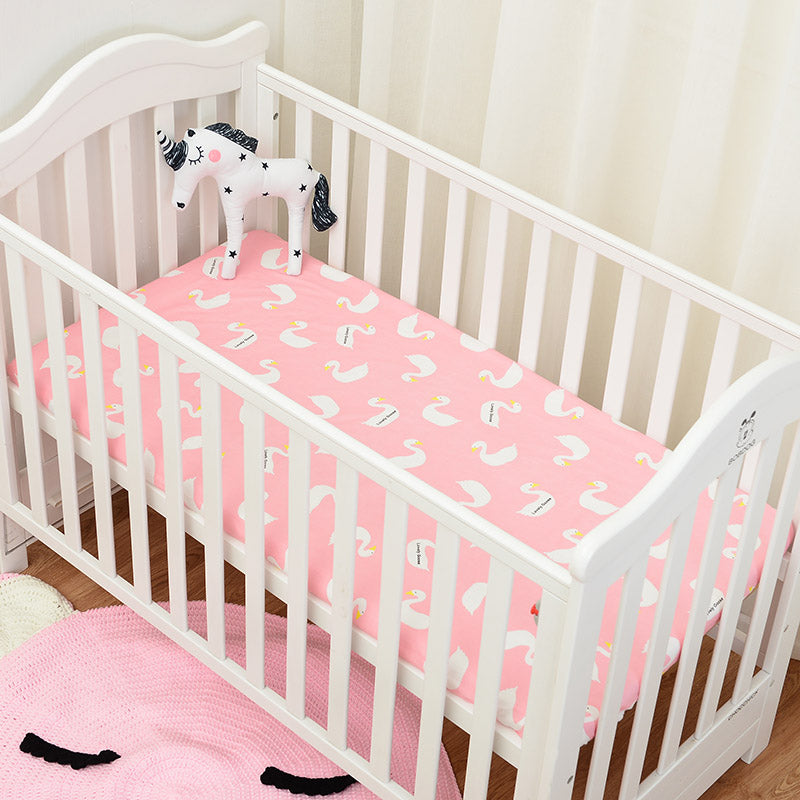 Pink Goose Bed Sheet - Present Baby | clothes, rompers, bibs, shoes, blankets, dresses & more