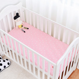 Pink Polka Dot Bed Sheet - Present Baby | clothes, rompers, bibs, shoes, blankets, dresses & more