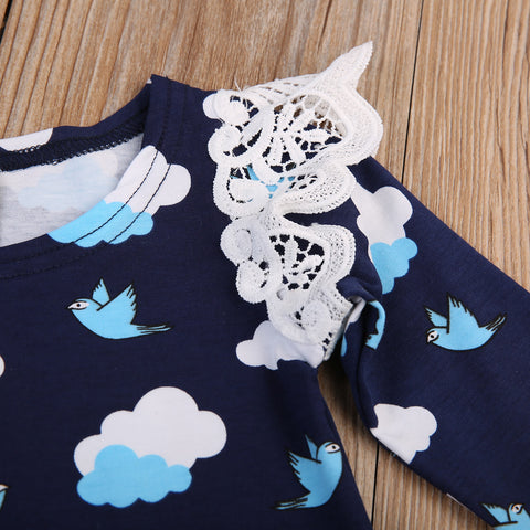 Birdie Clouds Romper - Present Baby | clothes, rompers, bibs, shoes, blankets, dresses & more