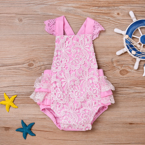 Nature Lace Tulle Romper - Present Baby | clothes, rompers, bibs, shoes, blankets, dresses & more