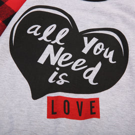 All You Need Is Love Plaid Romper Set - Present Baby | clothes, rompers, bibs, shoes, blankets, dresses & more