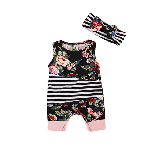Garden Lush Stacey Floral Romper - Present Baby | clothes, rompers, bibs, shoes, blankets, dresses & more