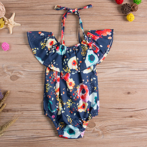 Hibiscus Jane Floral Romper - Present Baby | clothes, rompers, bibs, shoes, blankets, dresses & more