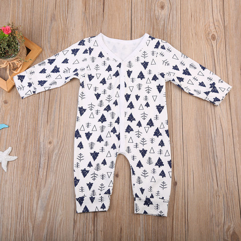Monochrome Polka Pine Romper - Present Baby | clothes, rompers, bibs, shoes, blankets, dresses & more