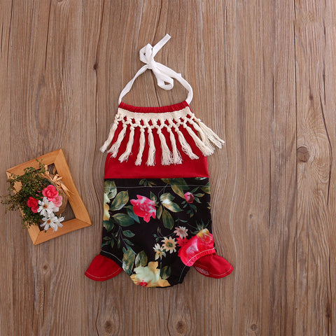 Floral Halter Romper - Present Baby | clothes, rompers, bibs, shoes, blankets, dresses & more