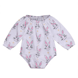 Bunny Hoppers Romper - Present Baby | clothes, rompers, bibs, shoes, blankets, dresses & more