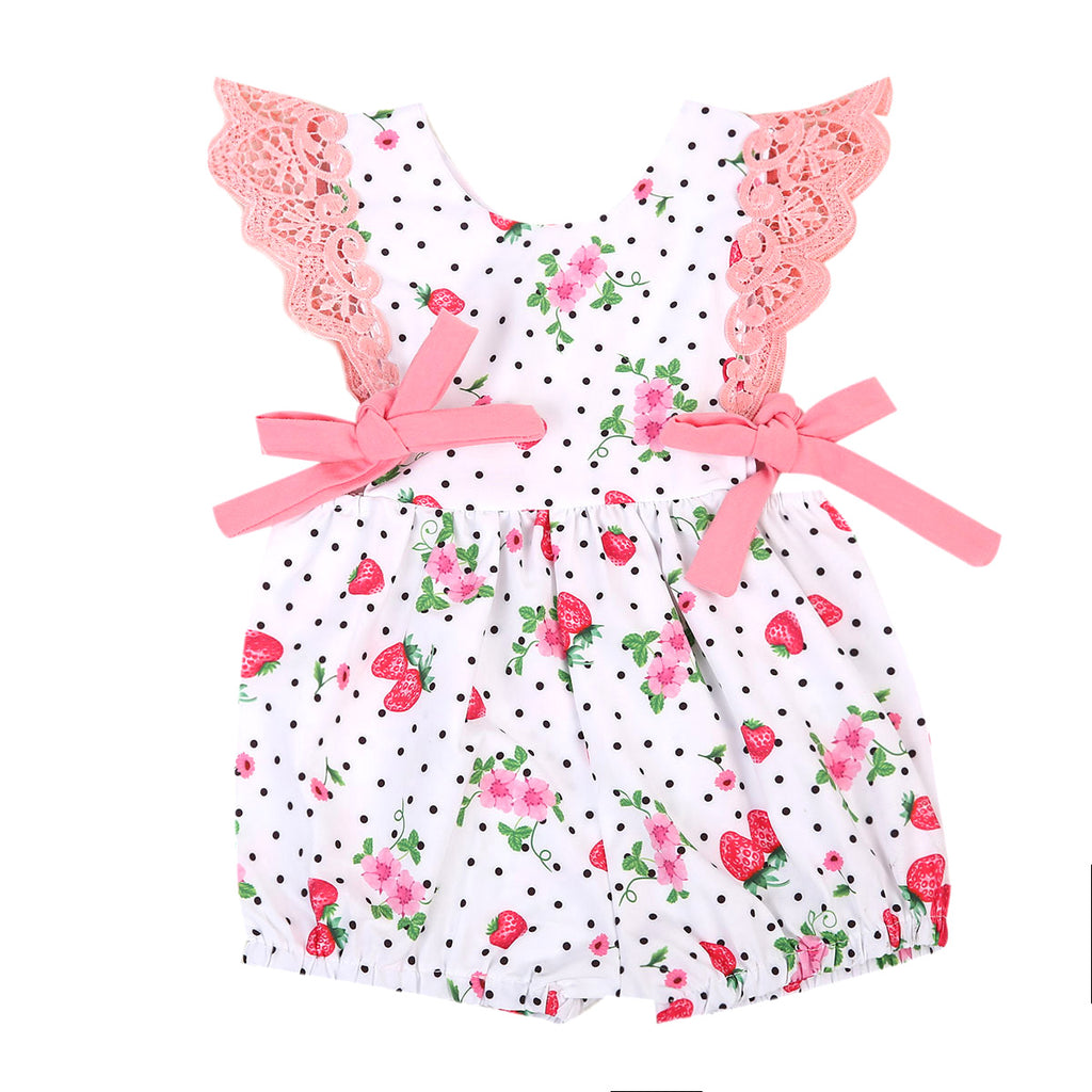 Strawberry Fields Romper - Present Baby | clothes, rompers, bibs, shoes, blankets, dresses & more