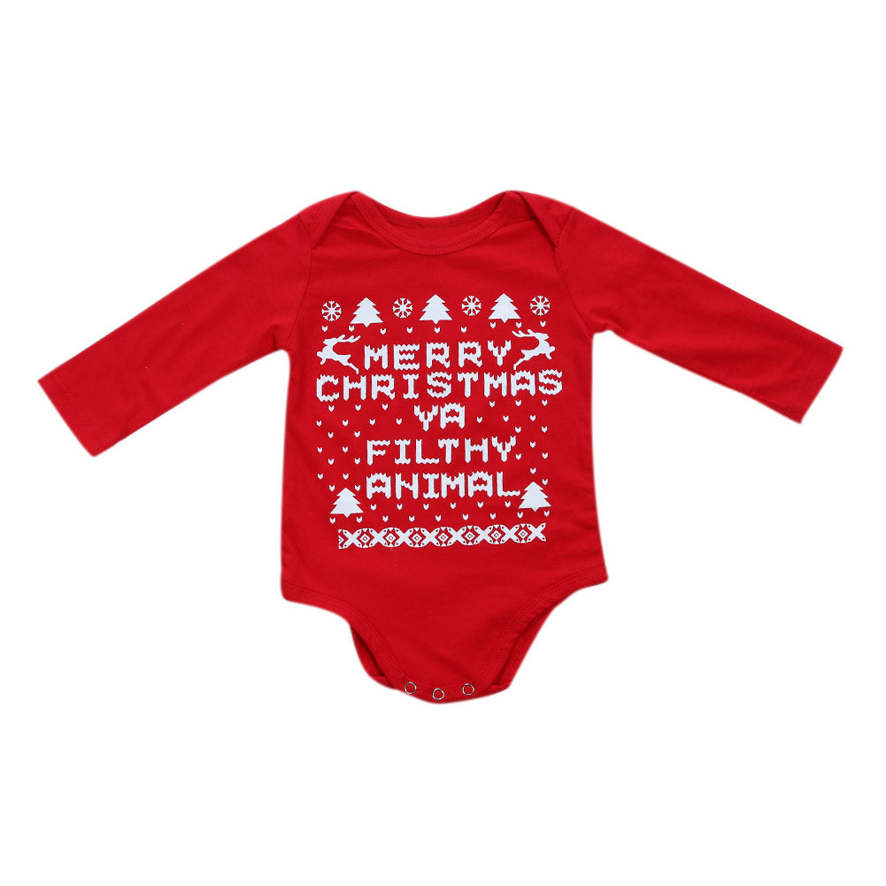 Merry Christmas Ya Filthy Animal Romper - Present Baby | clothes, rompers, bibs, shoes, blankets, dresses & more