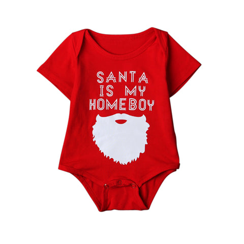 Santa Is My Homeboy Romper - Present Baby | clothes, rompers, bibs, shoes, blankets, dresses & more