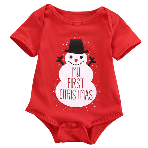 My First Christmas Snowman Romper - Present Baby | clothes, rompers, bibs, shoes, blankets, dresses & more