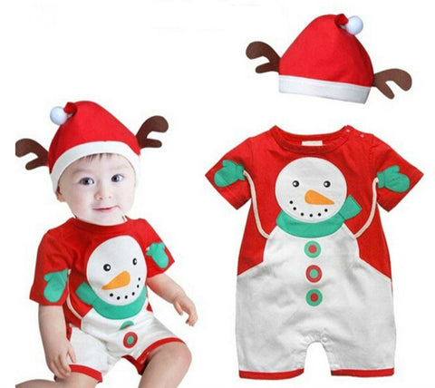 Happy Snowman Romper - Present Baby | clothes, rompers, bibs, shoes, blankets, dresses & more