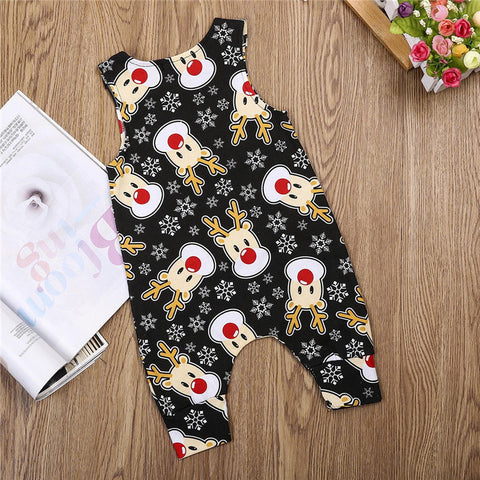 Moosy Christmas Sleeveless Romper - Present Baby | clothes, rompers, bibs, shoes, blankets, dresses & more