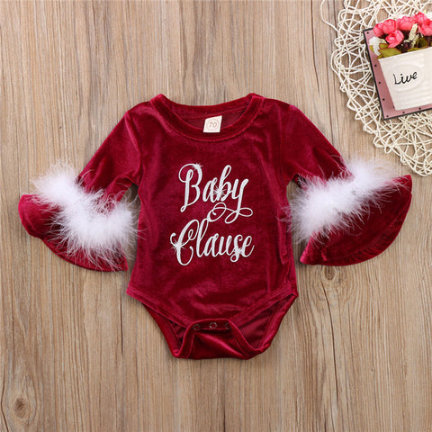 Baby Clause Romper - Present Baby | clothes, rompers, bibs, shoes, blankets, dresses & more