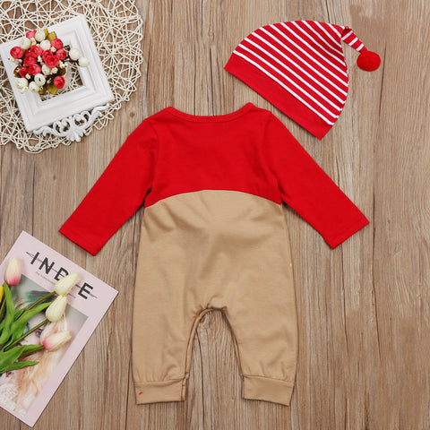 Rudolf Nose Romper Set - Present Baby | clothes, rompers, bibs, shoes, blankets, dresses & more