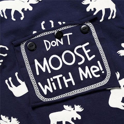 Don't Moose With Me Christmas Romper - Present Baby | clothes, rompers, bibs, shoes, blankets, dresses & more