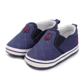 Plaid Blue Royal Shoes - Present Baby | clothes, rompers, bibs, shoes, blankets, dresses & more