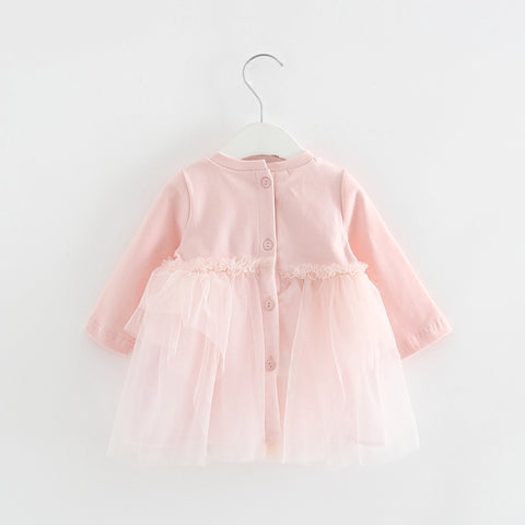 Pink Pearl Bow Tie Gown Dress - Present Baby | clothes, rompers, bibs, shoes, blankets, dresses & more