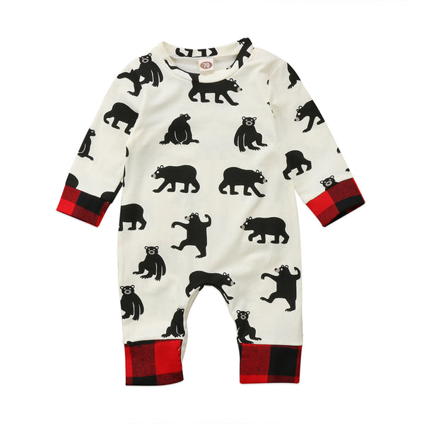 Baby Bear Bum Plaid Ranch Romper - Present Baby | clothes, rompers, bibs, shoes, blankets, dresses & more