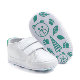 Basic White Strap On Shoes - Present Baby | clothes, rompers, bibs, shoes, blankets, dresses & more
