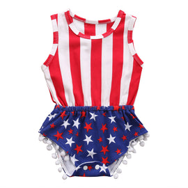 American Flag Independence Day Romper - Present Baby | clothes, rompers, bibs, shoes, blankets, dresses & more