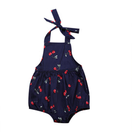 Cherry Polka Romper - Present Baby | clothes, rompers, bibs, shoes, blankets, dresses & more