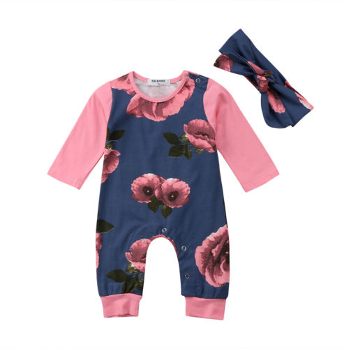 Rosy Cheeks Floral Romper - Present Baby | clothes, rompers, bibs, shoes, blankets, dresses & more