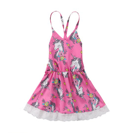 Flower Baby Girls Unicorn Dress - Present Baby | clothes, rompers, bibs, shoes, blankets, dresses & more