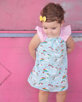 Rainbow Ponies Dress - Present Baby | clothes, rompers, bibs, shoes, blankets, dresses & more