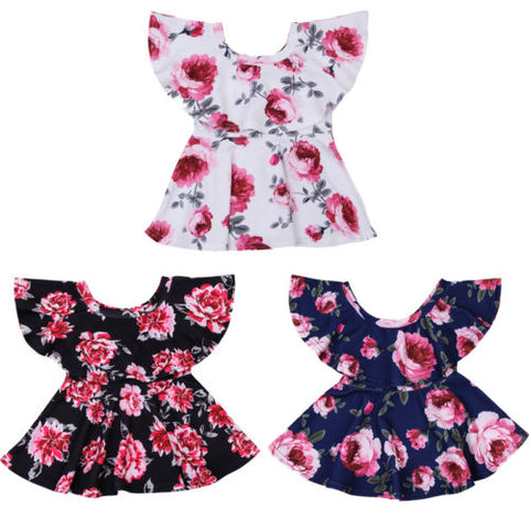 Floral Off Shoulder Summer Dress - Present Baby | clothes, rompers, bibs, shoes, blankets, dresses & more