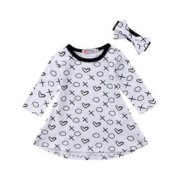 XOXO Long Sleeve Dress - Present Baby | clothes, rompers, bibs, shoes, blankets, dresses & more