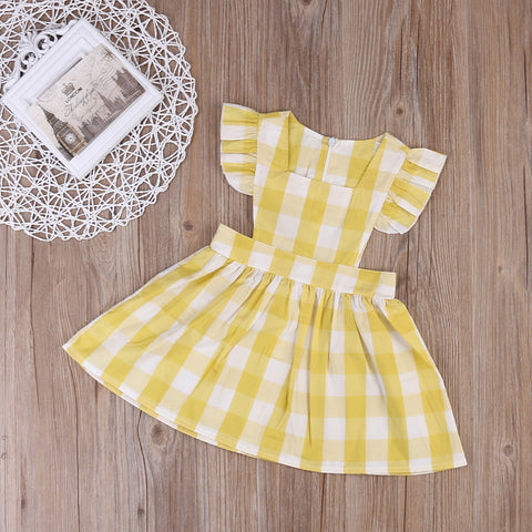 Picnic Plaid Dungaree Dress - Present Baby | clothes, rompers, bibs, shoes, blankets, dresses & more