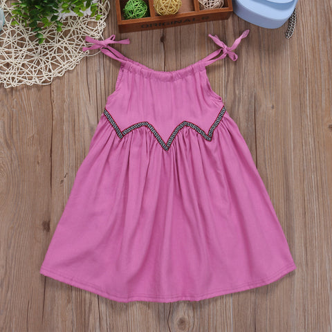 Pink Tie Tank Dress - Present Baby | clothes, rompers, bibs, shoes, blankets, dresses & more