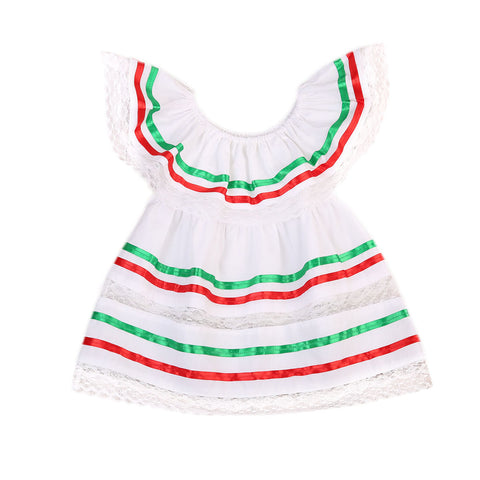Candy Cane Striped Dress - Present Baby | clothes, rompers, bibs, shoes, blankets, dresses & more