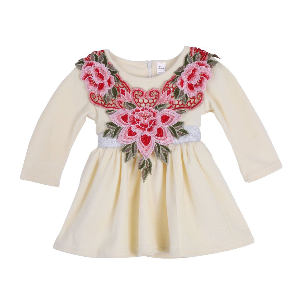 Rosy Embroidery Cap Dress - Present Baby | clothes, rompers, bibs, shoes, blankets, dresses & more