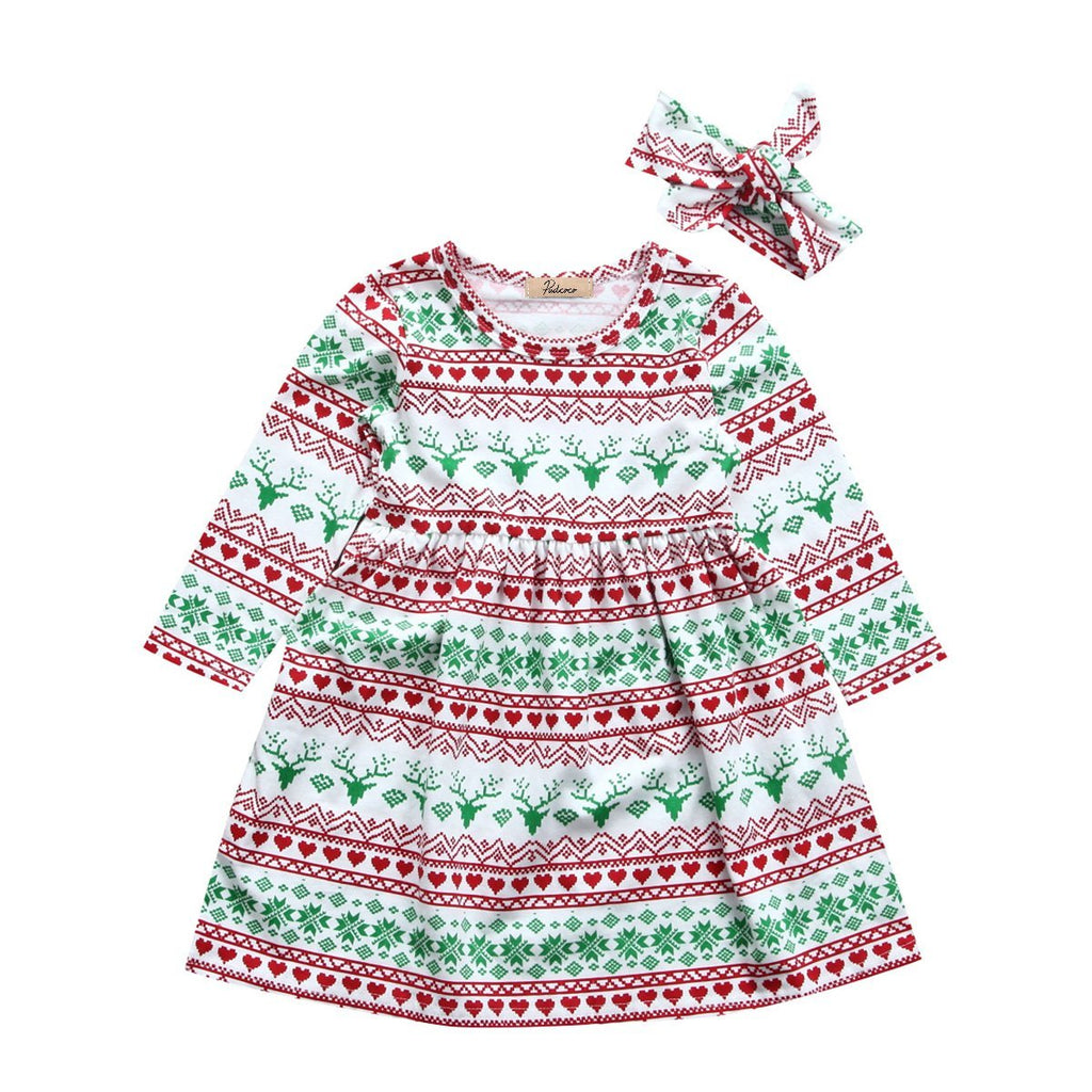 Christmas Deer Dress - Present Baby | clothes, rompers, bibs, shoes, blankets, dresses & more