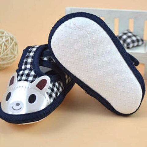 Canvas Plaid Bunny Strap On Shoes - Present Baby | clothes, rompers, bibs, shoes, blankets, dresses & more