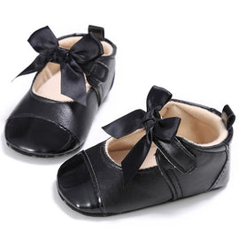 Formal Black Butterfly Knot Strap Shoes - Present Baby | clothes, rompers, bibs, shoes, blankets, dresses & more