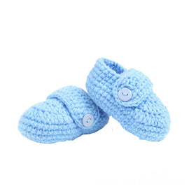 Crochet Knit Button Shoes (0-12 Months) - Present Baby | clothes, rompers, bibs, shoes, blankets, dresses & more